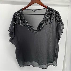Express Short Sleeve Gray Shirt